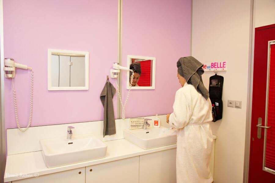 Salle de bain du Petit Baroudeur Backpacker