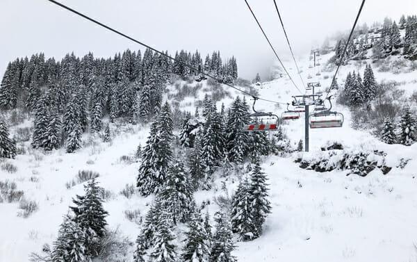 En vacances à Champéry en hiver