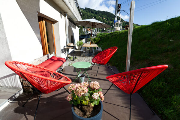Terrasse du Petit Baroudeur Backpacker