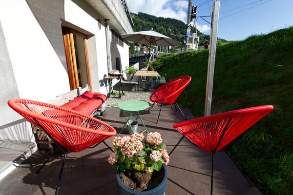 Terrasse du Petit Baroudeur Backpacker